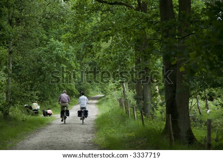 Making a tour by bike is healthy and pleasant