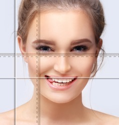 Making Beauty, modifying face to make it closer to the Golden Mask,plastic surgery. correction of asymmetry.