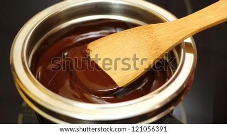 Making Chocolate Sponge Cake. Series. Melting Chocolate.