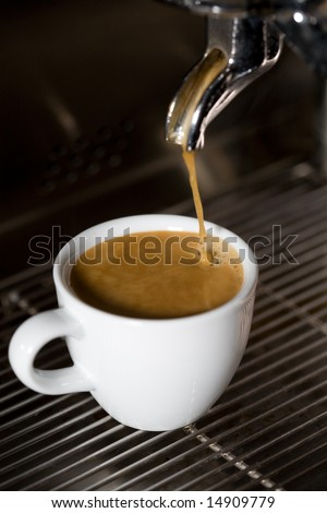 making coffee close-up