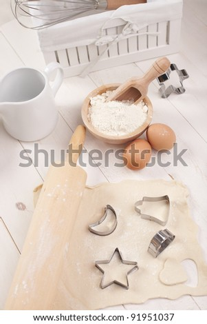 making cookies preparation set