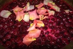 making delicious fragrant homemade cherry jam