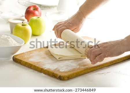Making dough for puff pastry