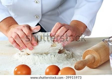 making dough for tasty baked goods