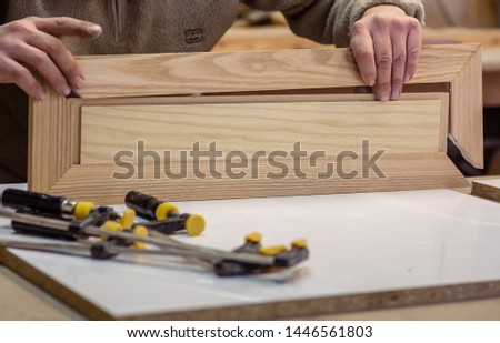 Making furniture from wood. Work carpenter. Carpentry tools. Carpentry workshop #1446561803
