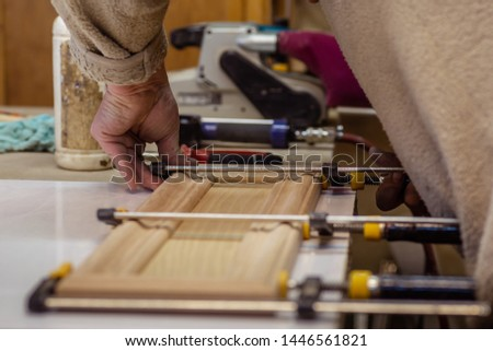 Making furniture from wood. Work carpenter. Carpentry tools. Carpentry workshop #1446561821