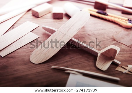 making model airplane from wood....