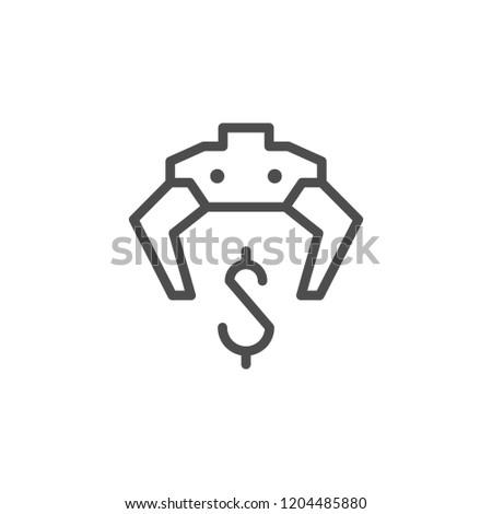 Making money line icon isolated on white