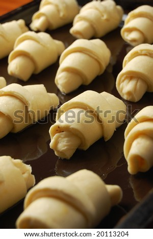 Making of bakery products (shallow DOF)