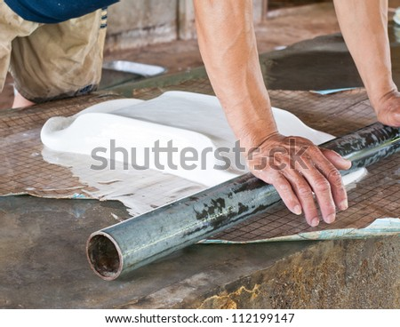 Making rubber sheets