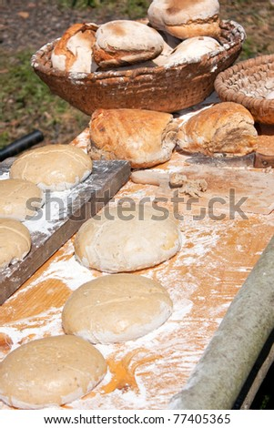 Making traditional andd very tasty Czech bread, with caraway