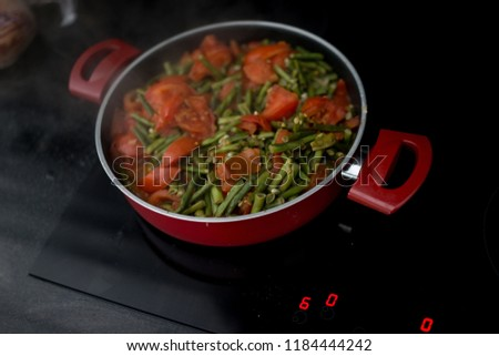 Making vegetable lunch #1184444242