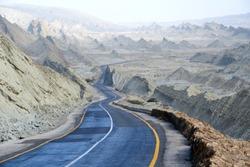 Makran Coastal Highway or National Highway 10 in Pakistan which extends along Pakistan's Arabian Sea coast from Karachi in Sindh province to Gwadar in Balochistan province