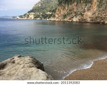 Mala Beach and Cove in Cap D'Ail Foto stock ©