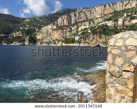 Mala Beach View From Cap D'Ail Foto stock ©