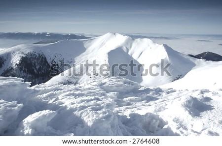 Mala Fatra mountains panorama in winter