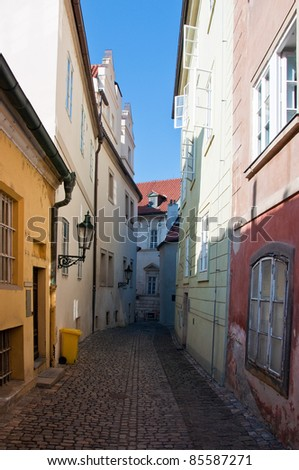 Mala strana or Lesser side, beautiful old part of Prague city, the Czech capital and one of the most attractive tourist destinations in Europe.