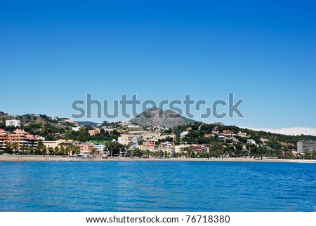 Malaga Beach - View from the sea