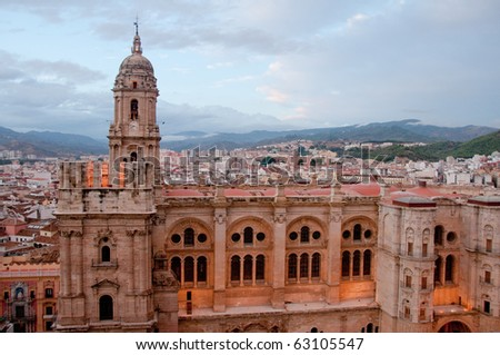 Malaga cathedral - stock photo