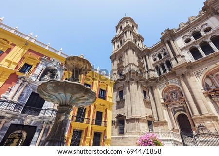 Malaga Cathedral. Malaga, Andalusia, Spain. #694471858