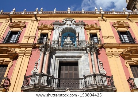 Malaga in Andalusia region of Spain. Episcopal Palace.