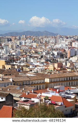 Malaga in Andalusia, Spain. Cityscape and architecture.