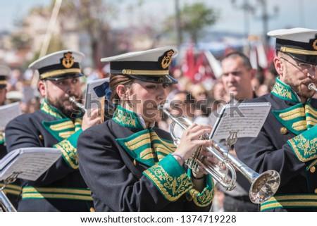 Malaga, Spain, April 14th, 2019 - Semana Santa (Holy Week). #1374719228
