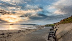 Malahide beach Dublin Ireland sunrise