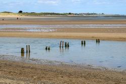 Malahide beach on a sunny day. Ireland.