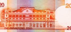 Malakanyang Palace (Malacanang Palace). Portrait from Philippines 20 Piso 2008 Banknotes.