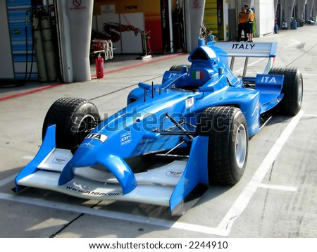 Malaysia A1 Gp,Italy race car on pit stop