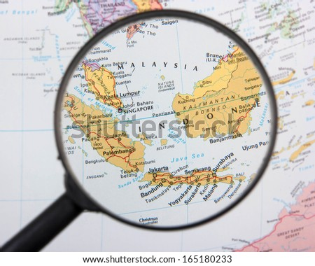 Malaysia and Indonesia under magnifier