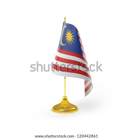 Malaysia Flag Detail Render