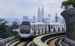 Malaysia MRT (Mass Rapid Transit) train, a transportation for future generation.
