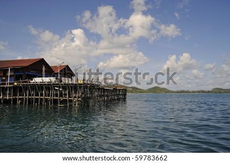 Malaysia - Sibu Island Kelong - stock photo