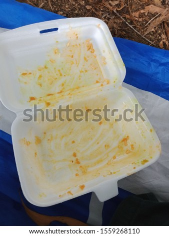 Malaysia, Terengganu 14November 2019, recyclable plastic food container
