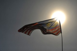 Malaysian flags seen around Labuan Island during Malaysia Day celebration on 16 September 2018.