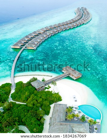 Maldives Islands has 86 hotel islands and these islands are named after their resort hotels.