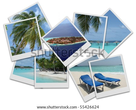 Maldives photo collage - stock photo