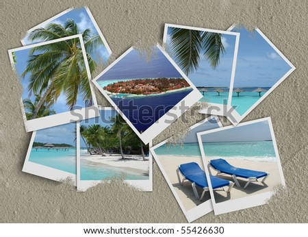 Maldives photo collage