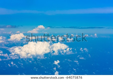 Maldivian Scattered Clouds Seen from a Plane