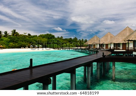 Maldivian water bungalows.