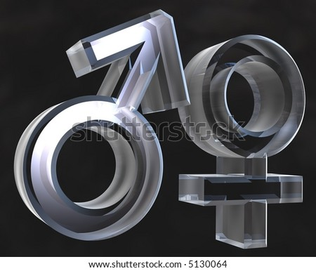 stock photo : Male and female sex symbols Male and female sex symbols (3D)