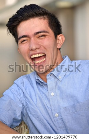 Male And Laughter #1201499770