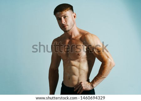 male athlete athlete with naked torso