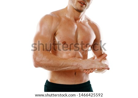 male athlete fitness athlete naked torso