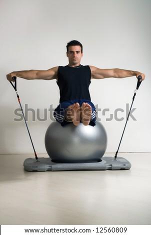 Judo Vitruvian Man - proper kuzushi direction  - Page 2 Stock-photo-male-athlete-sitting-arms-extended-doing-pilates-12560809