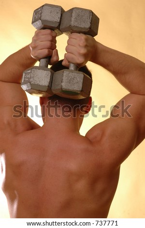 male back with weights