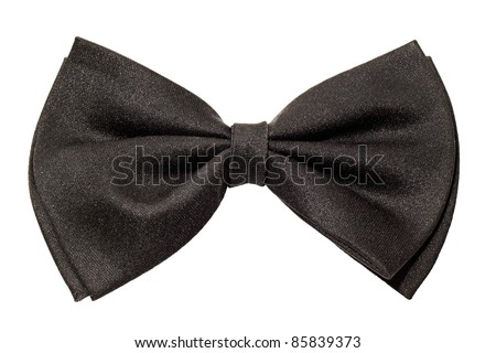 male black bow tie isolated on a white background