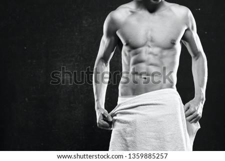 male bodybuilder muscular muscular thorson athlete dark background